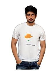 PosterGuy Lovers, Lunatics Poet India Bhagat Singh White Motivational Quote T-Shirt