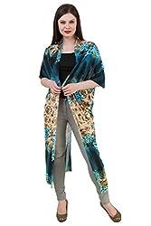 Mojeska Women Printed Loose Fit Long Multiwear Cover up Dress