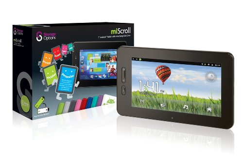 Storage Options 52578 miScroll 7 Inch Android 2.3 Touch-Screen Tablet PC with Changeable Cover  &  Replaceable Battery (Battery Pack  &  Selection of Vibrant Coloured Covers Available Separately)