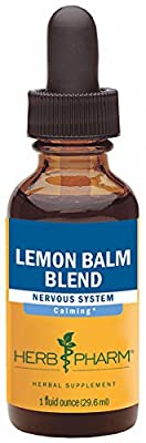 Herb Pharm Lemon Balm Blend Extract for Calming Nervous System Support