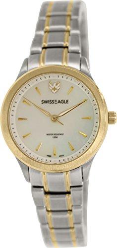 Swiss Eagle SE-6047-33 - Reloj para mujeres, correa de acero inoxidable