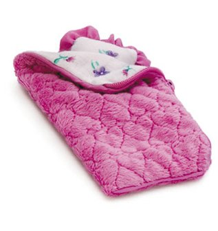 More image Li'l Kids Doll Quilted Sleeping Bag & Pillow Only Hearts Club