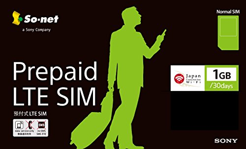 So-net Prepaid LTE SIM プラン1G 標準SIM