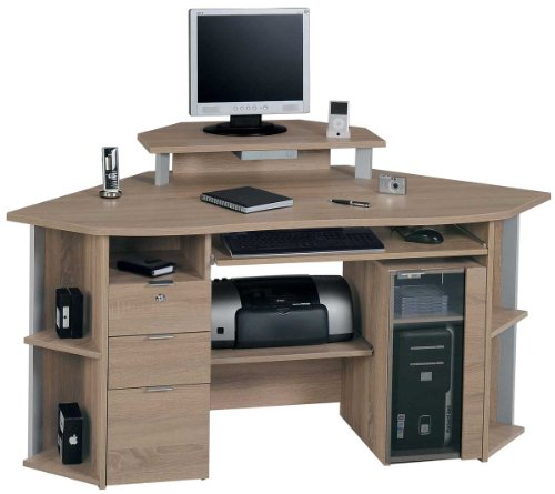 Jahnke CS450E Sawn Oak Corner Computer Desk