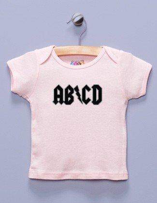 """""""AB/CD"""" Pink T-Shirt (4T)"""
