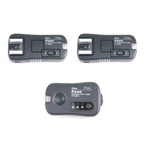 Kaavie Multi-function Wireless Shutter Remote Control & Wireless Flash Trigger & wireless studio trigger Combi System with 2 Receivers for Nikon D3 D300 D700 D90 D5000 D7000 Flashgun SB-900 SB-800 SB-600 SB-400