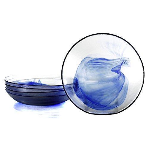 bormioli rocco murano soup plates blue set of 6. Black Bedroom Furniture Sets. Home Design Ideas