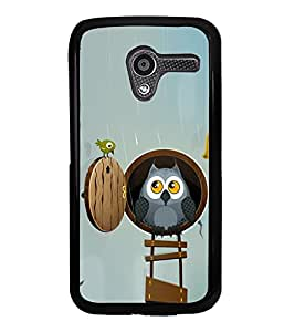 Cute Owl and a Bird 2D Hard Polycarbonate Designer Back Case Cover for Motorola Moto X :: Motorola Moto XT1052 XT1058 XT1053 XT1056 XT1060 XT1055