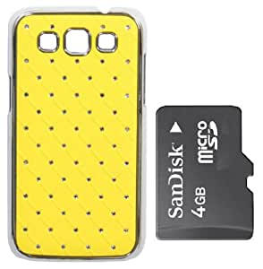 KolorEdge Back cover +4gb Sandisk memory card for Samsung Galaxy Grand qtro i8552 - Yellow