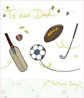 Luxury Father's Day Greeting Card 'To Our Dad'