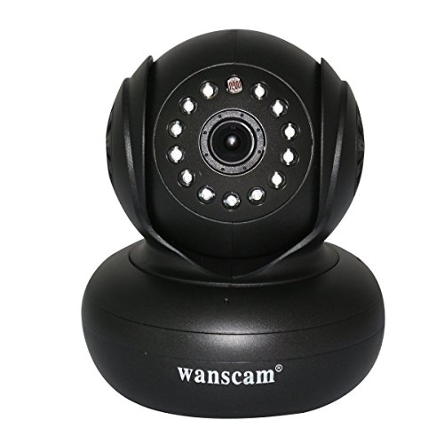 Wanscam P2P 720P Hd 1.0 Mp Baby Monitor Megapixel Ip Camera Pan Tilt Ir Wifi Webcam Night Vision Wireless Network With Tf Card Slot - Black front-274397