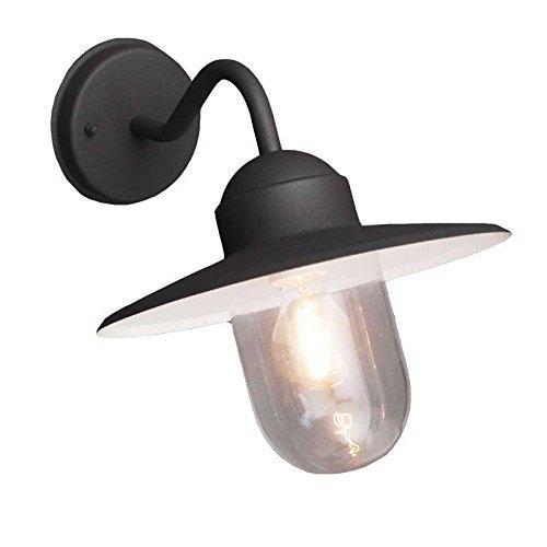 QAZQA-Klassisch-AntikLandhaus-Rustikal-Auenleuchte-Kansas-graphit-AluminiumGlas-RundKugelfrmig-LED-geeignet-E27-Max-1-x-60-Watt