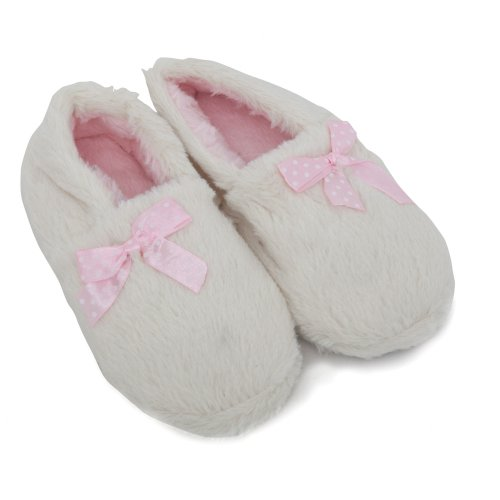 Cheap Childrens/Kids Girls Soft Indoor Footwear/Slippers With Bow (B009OU7GOK)