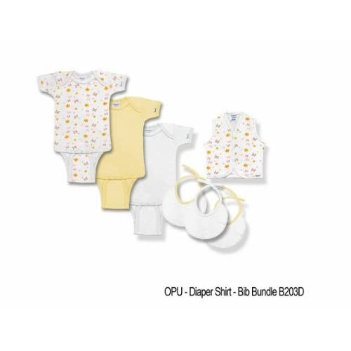 com: Spencer B203D-M 7 Piece Bodysuits & Diaper Shirts Bundle, Medium