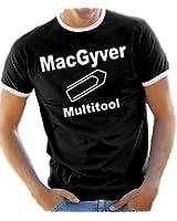 MacGyver - Multitool Kontrast / Ringer T-Shirt S-XXL div. Farben