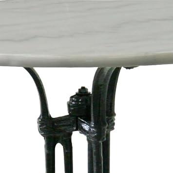 Bistrotisch 70cm aus eisen schwarz marmor wei modell for Runde kindertische
