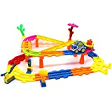 Little Treasures Master Train Set For – With Bright Colored Track Roads The Assembly Is Fun For Children's Playtime