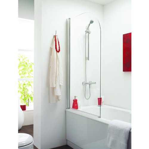 Standard Bath Shower Screen 6mm Polished Chrome