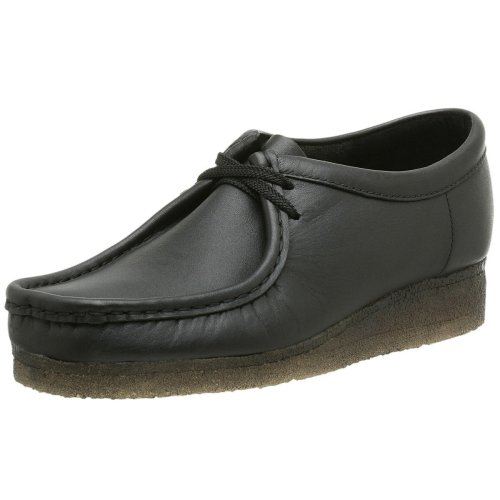 Clarks Originals Men's Wallabee Oxford, Black Leather, 7.5 M