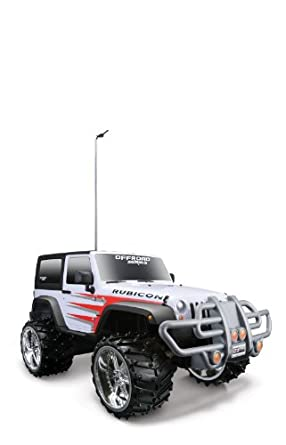 Maisto R/C 1:16 Scale Off Road Jeep Wrangler Rubicon Radio Control Vehicle (Colors May Vary)