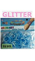Rubbzy 100 pc Special Edition Tie Dye/Glitter Rubber Bands w/ 4 Connectors (#173) : Image