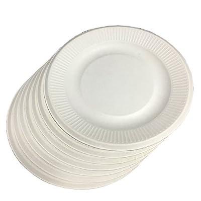 Degradable/Eco-Friendly Paper Plate-Suitable for Hot & Cold Food 50pcs