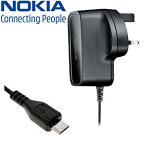 genuine nokia asha 308 mains charger wall adaptor ac 10x amazon co uk