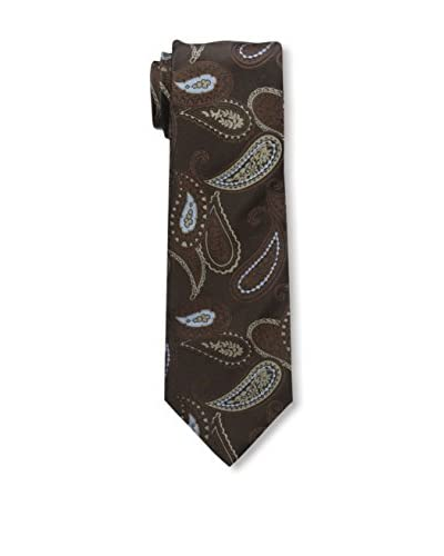 Isaia Men's 7-Fold Silk Tie, Brown
