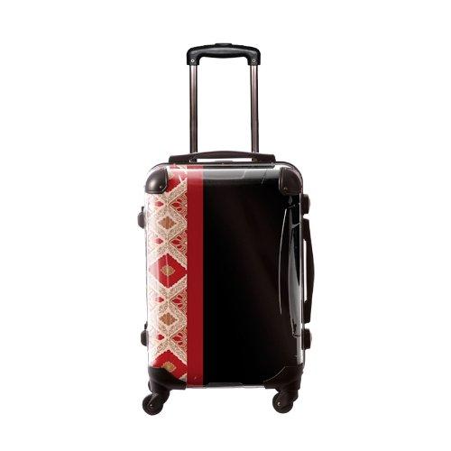 キャラート アートスーツケース ジャパニーズモダン 旅化(ブラック) フレーム4輪 機内持込
