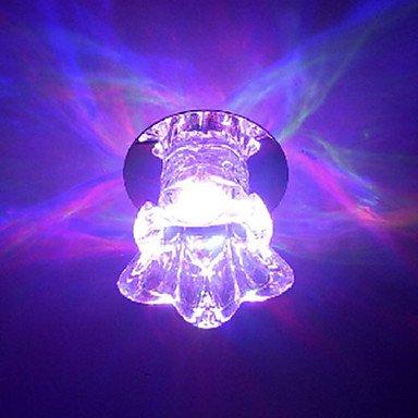 Led Crystal Flush Mount, 1 Light, Dainty Glass Plating