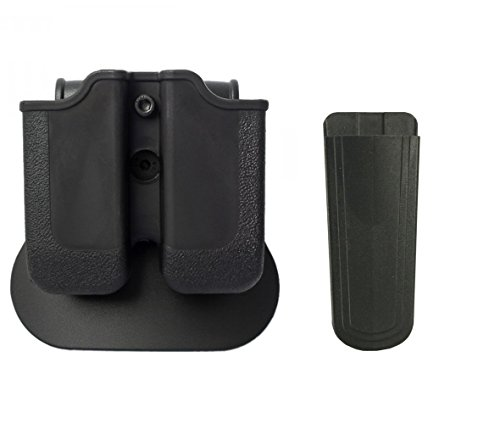 IMI Defense Z2030 MP03 Double Magazine Pouch 360° Rotate Holster CZ, WALTHER P88, P99, PPQ M1 (Classic), M2, Black +