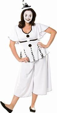 Pierrot Costume Ladies Plus