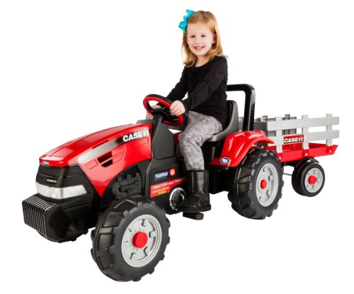 Peg Perego Case Ih Tractor And Trailer front-1071774