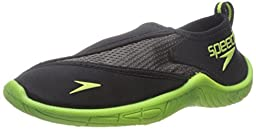 Speedo Kids Surfwalker Pro 2.0 Water Shoes (Little Kid/Big Kid), Black/Yellow, 4  US Big Kid