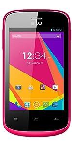 BLU Dash JR K, Android 4.4 KK, 2MP - Unlocked (Pink)