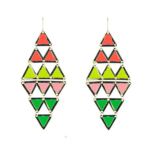 GERGER BO Women Exaggerated Big-name Geometric Alloy Triangular Iron Drop Earrings (Big Iron Auction compare prices)