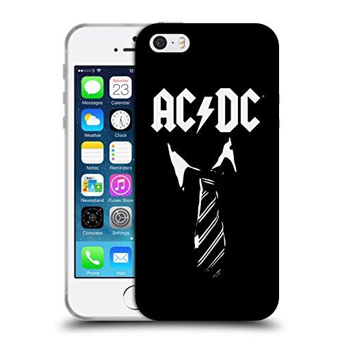 Ufficiale AC/DC ACDC Cravatta Iconico Cover Morbida In Gel Per Apple iPhone 5 / 5s / SE