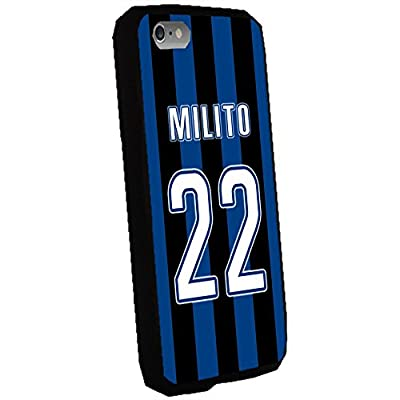 Diego Milito - Inter Milan Soccer Color Background Jersey Case Cover for Apple Iphone 5c (Black)