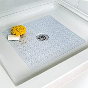 Amazon Com Deluxe Square Shower Mat Non Slip Bathtub Mats