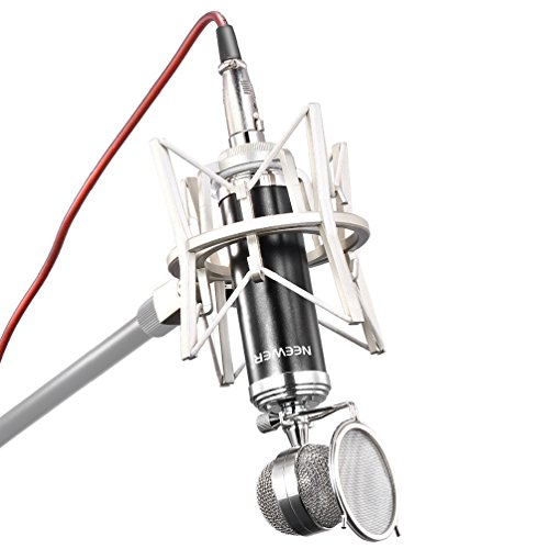 Neewer-NW-7500-Cardioid-Broadcasting-Recording-Condenser-Microphone-Set-includes-1Condenser-Microphone-with-Detachable-Pop-Filter1Shock-Mount-1XLR-Connector-Cable