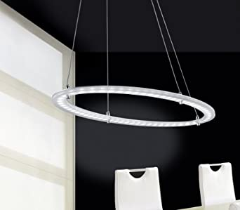 LED-Leuchtmittel Deckenschiene Nickel // Glas 6-fl Trio-Leuchten