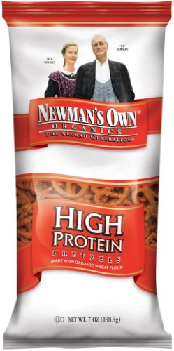 Newman'S Own Organics Pretzels, High Protein, 7-Ounce Bags (Pack Of 12)