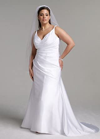 Cheap wedding dresses david 39 s bridal wedding dress satin for Sell your wedding dress fast