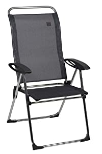 Lafuma Cham Elips High-Back Folding Chair, Obsidian (SET OF 4 CHAIRS) by Lafuma