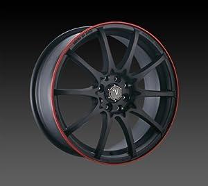 ": 17"" Velocity Vw211 Wheels 17x7.5 Offset:35 Black Red Lip Rims Sale"