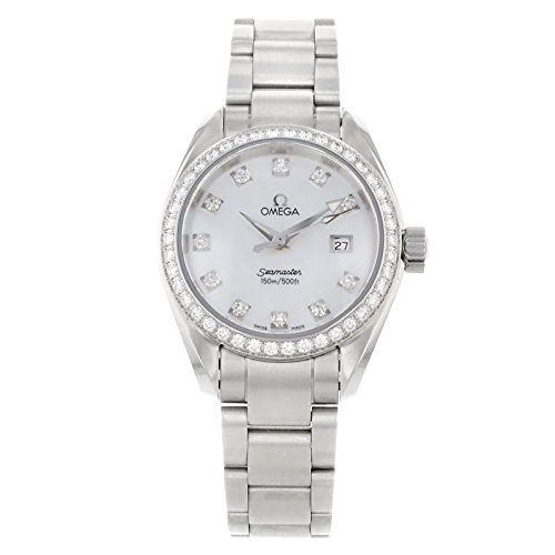 Omega Aqua Terra 2579.75 Stainless Steel & Diamonds Quartz Ladies Watch