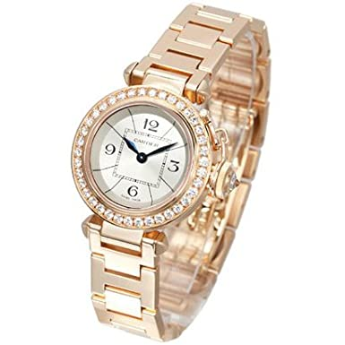 Diamond Paved Cartier Miss Pasha 18k Rose Gold Ladies Watch