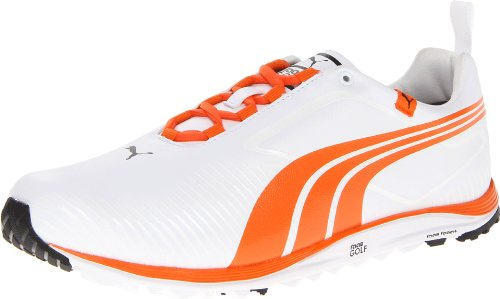 Puma Golf Footwear Mens Faas Lite Shoe,White/Vibrant