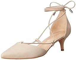 Schutz Women\'s Rosanna Dress Sandal, Oyster, 8 M US