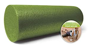 Gaiam Restore Muscle Therapy Foam Roller with DVD, 18-Inch
